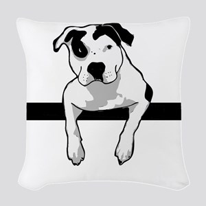 Pit Bull T-Bone Graphic Woven Throw Pillow