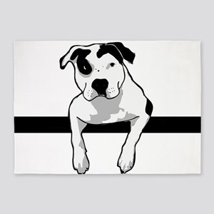 Pit Bull T-Bone Graphic 5'x7'Area Rug