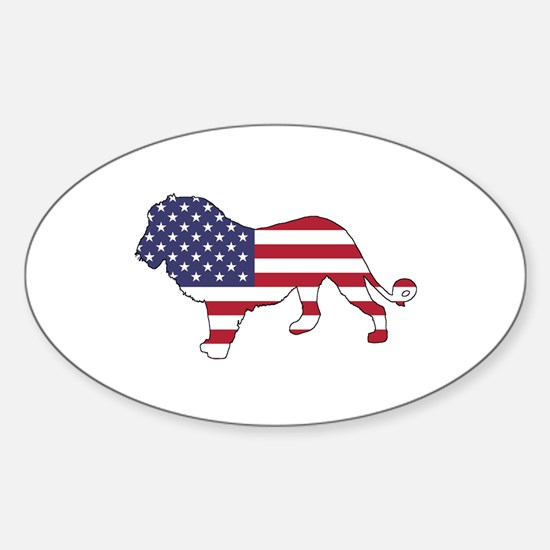 Lion - American Flag Decal