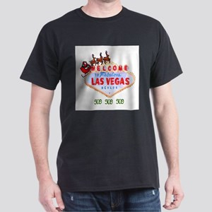 Santa on Las Vegas Sign HO HO HO Ash Grey T-Shirt