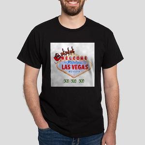 Santa on Las Vegas Sign HO HO HO Ash Grey T-Shirt