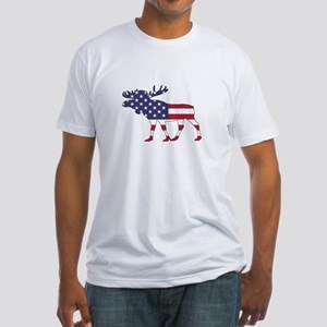 Moose - American Flag T-Shirt