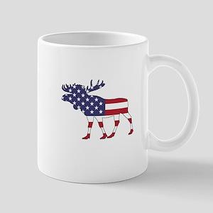 Moose - American Flag Mugs