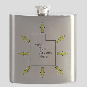 Utah Satire Blue Flask