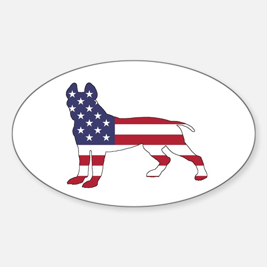 pit bull terrier - american flag Decal