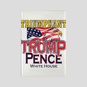 Triumphant Trump Pence Rectangle Magnet Magnets
