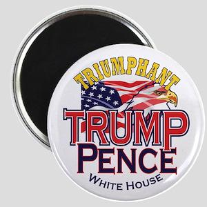 "Triumphant Trump Pence 2.25"" Magnet (100 Magn"