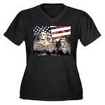 Patriotic Mount Rushmore Plus Size T-Shirt