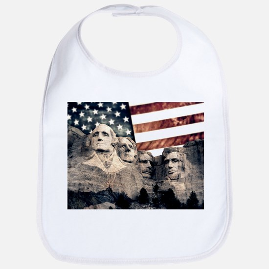 Patriotic Mount Rushmore Baby Bib