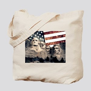 Patriotic Mount Rushmore Tote Bag