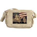 Patriotic Mount Rushmore Messenger Bag