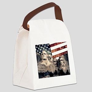 Patriotic Mount Rushmore Canvas Lunch Bag