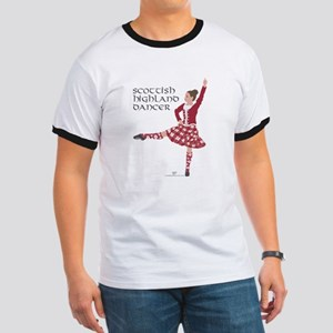 Scottish Highland Dancer Ringer T
