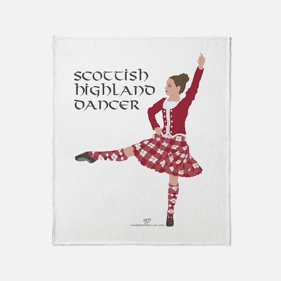 Scottish Highland Dancer Throw Blanket