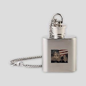 Patriotic Mount Rushmore Flask Necklace