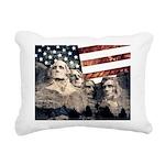 Patriotic Mount Rushmore Rectangular Canvas Pillow