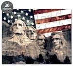 Patriotic Mount Rushmore Puzzle