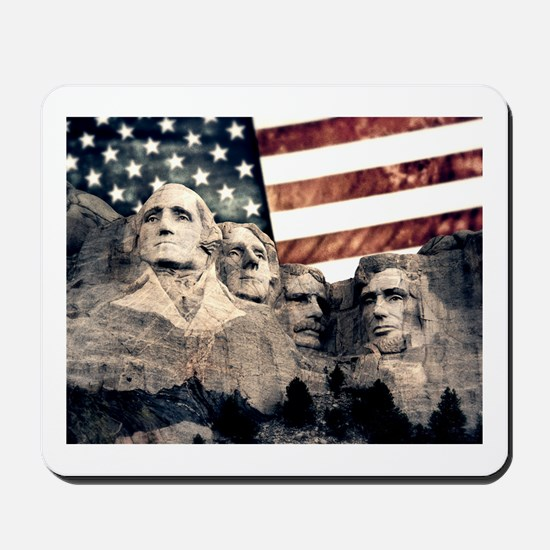 Patriotic Mount Rushmore Mousepad