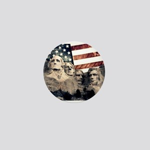 Patriotic Mount Rushmore Mini Button