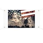 Patriotic Mount Rushmore Banner