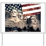 Patriotic Mount Rushmore Yard Sign
