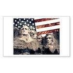 Patriotic Mount Rushmore Sticker