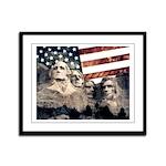 Patriotic Mount Rushmore Framed Panel Print