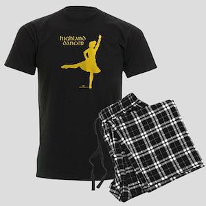 Scottish Highland Dancer Men's Dark Pajamas