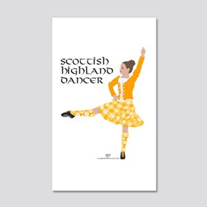 Scottish Highland Dancer 20x12 Wall Decal