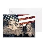 Patriotic Mount Rushmore Greeting Cards