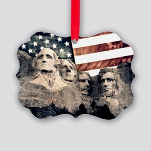 Patriotic Mount Rushmore Ornament