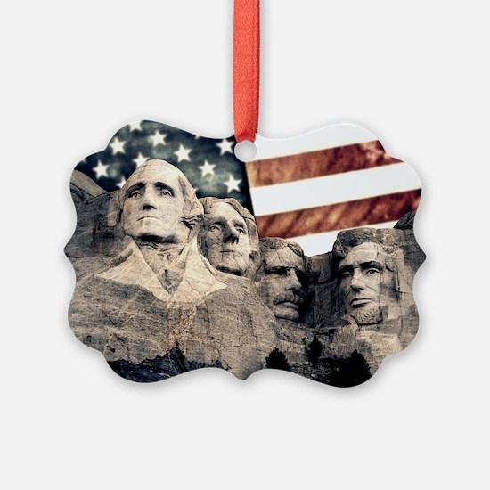 Patriotic Mount Rushmore Ornament