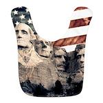 Patriotic Mount Rushmore Polyester Baby Bib