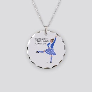 Scottish Highland Dancer Necklace Circle Charm