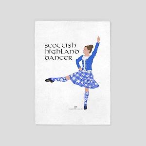 Scottish Highland Dancer 5'x7'Area Rug