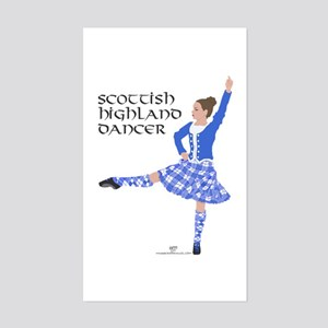 Scottish Highland Dancer Sticker (Rectangle)