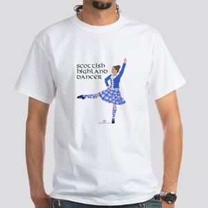 Scottish Highland Dancer White T-Shirt