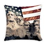 Patriotic Mount Rushmore Everyday Pillow
