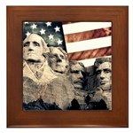 Patriotic Mount Rushmore Framed Tile