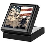 Patriotic Mount Rushmore Keepsake Box
