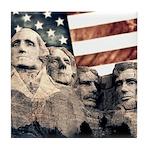 Patriotic Mount Rushmore Tile Coaster