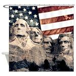 Patriotic Mount Rushmore Shower Curtain