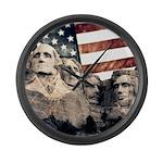 Patriotic Mount Rushmore Large Wall Clock