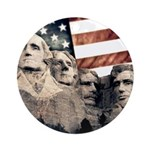 Patriotic Mount Rushmore Round Ornament