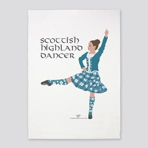 Scottish Highland Dancer 5'x7'Area Rug