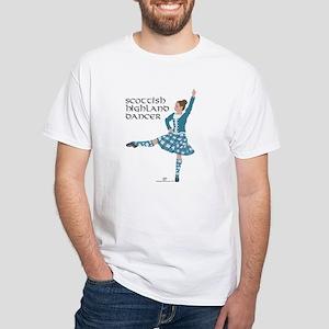Scottish Highland Dancer White T-Shirt