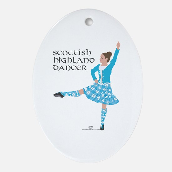 Scottish Highland Dancer Oval Ornament