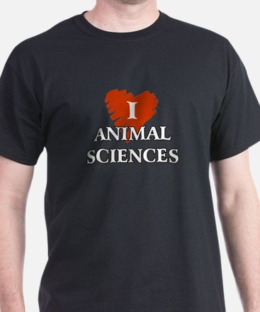 I Love Animal Sciences T-Shirt