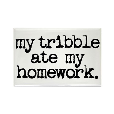 my tribble ate my homework Rectangle Magnet