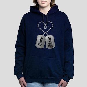 Navy Mom dog tags Sweatshirt
